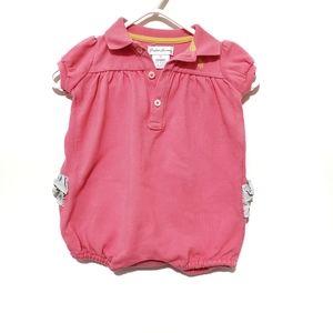 4for$20!! Ralph Lauren baby girls polo romper